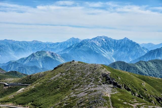 乗鞍岳の雄大な眺めの写真