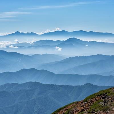 乗鞍岳山頂の雄大な景色(雲海)の写真