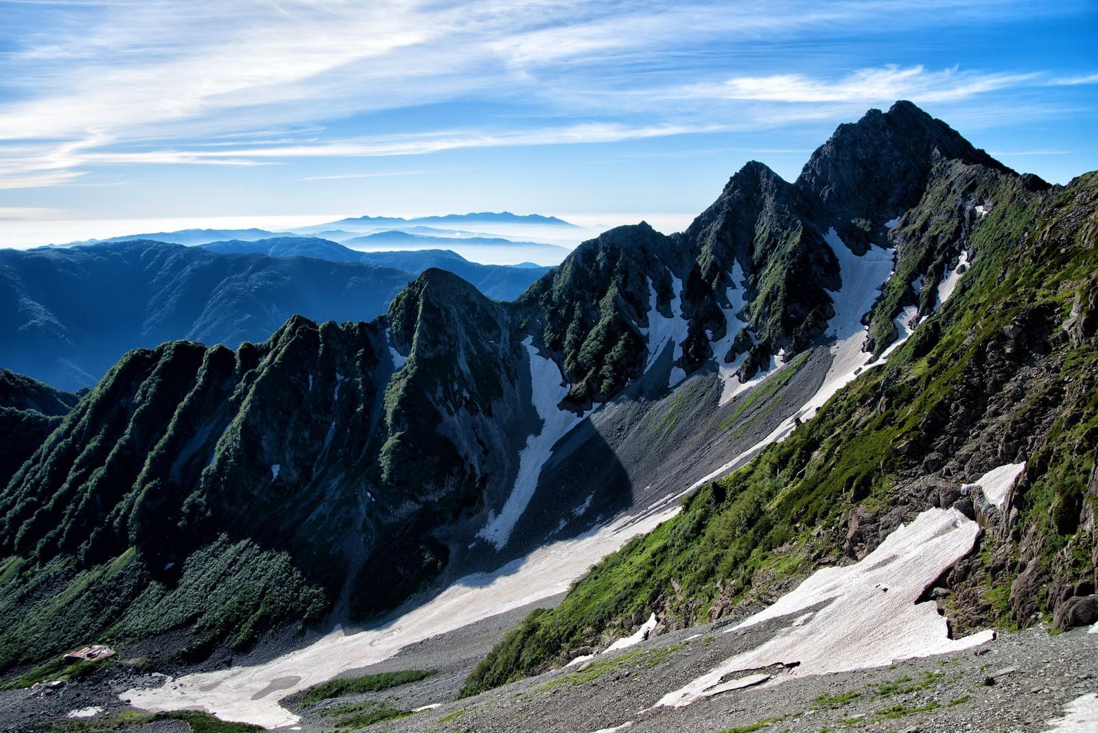 「前穂高岳北尾根から望む八ヶ岳」の写真