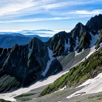 前穂高岳北尾根から望む八ヶ岳の写真