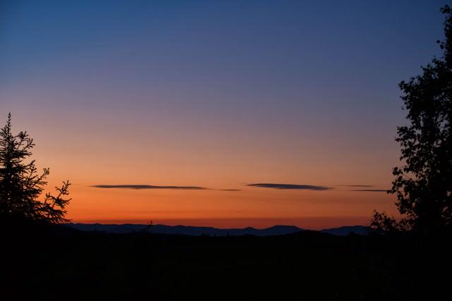 富良野の夕焼けの写真