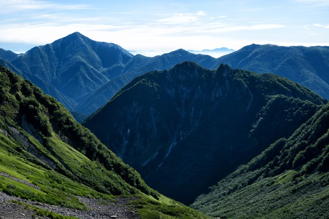 常念岳の景色の写真