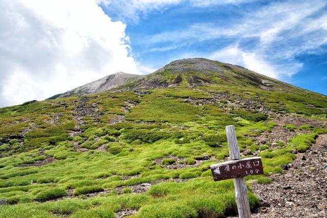 乗鞍剣ヶ峰の登山道の写真
