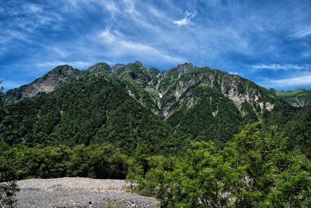 明神岳の存在感の写真