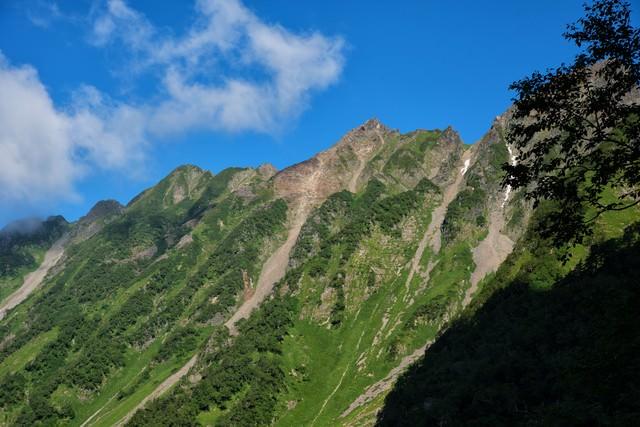 西穂高岳のピラミッドピークの写真