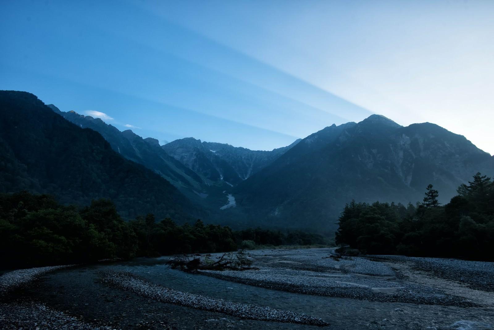 「夜明けの上高地」の写真