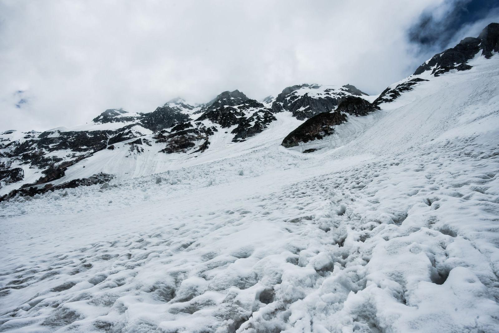 「雪崩の巣窟(涸沢カール)」の写真