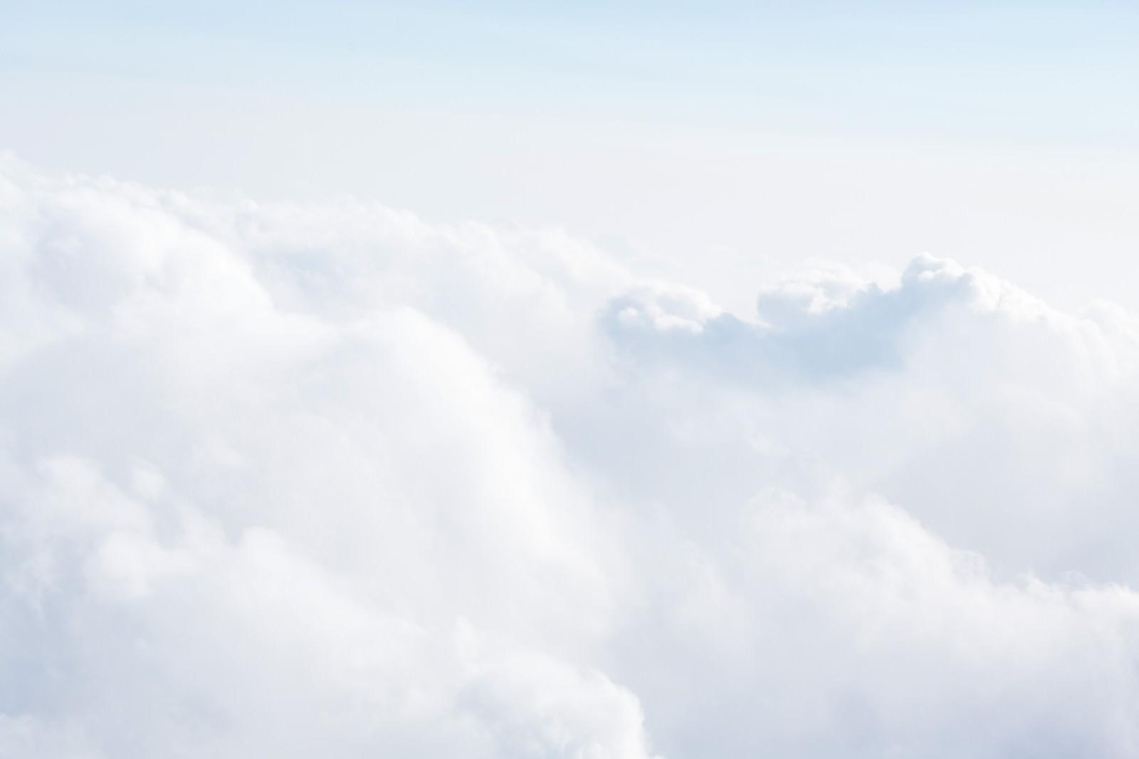 「上空からの雲上空からの雲」のフリー写真素材を拡大