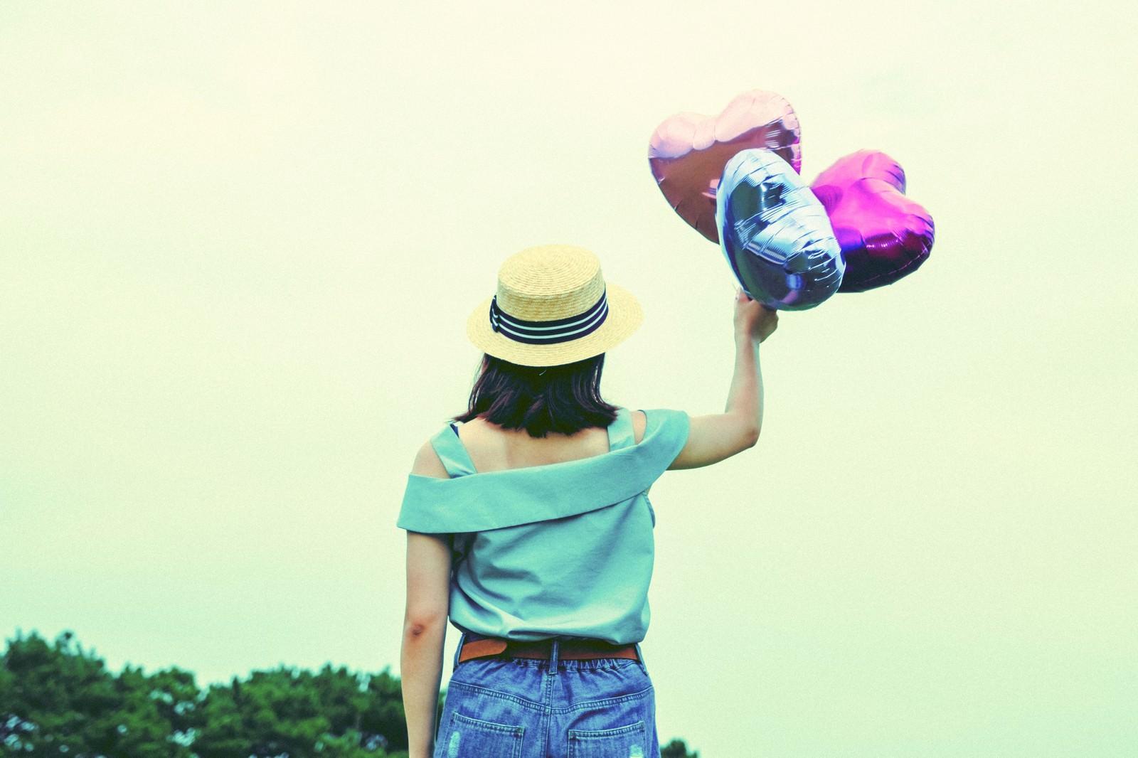 「風船のハートで飛んでいきたい」の写真