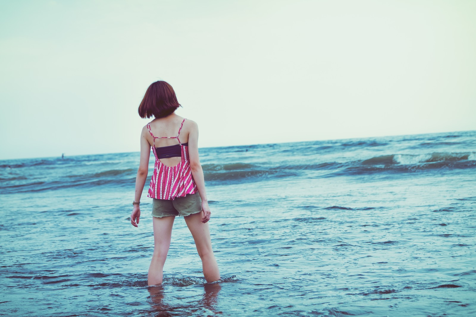 「切ない夏の海」の写真