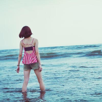 切ない夏の海の写真
