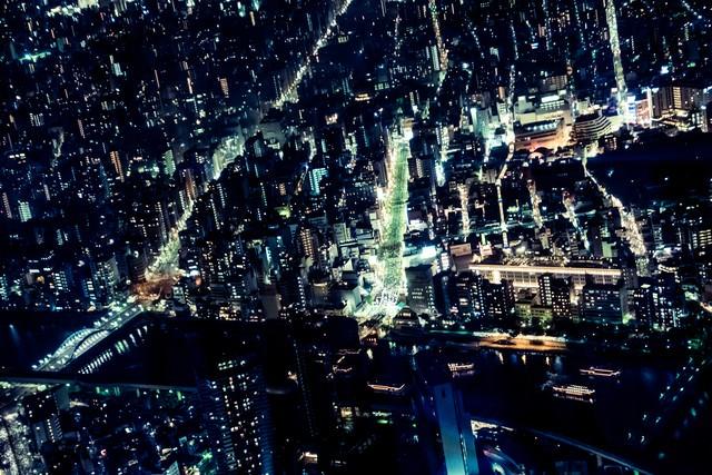 都市夜景観の写真