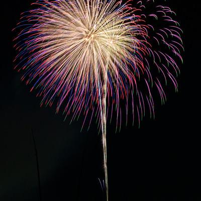 夏の打上花火の写真