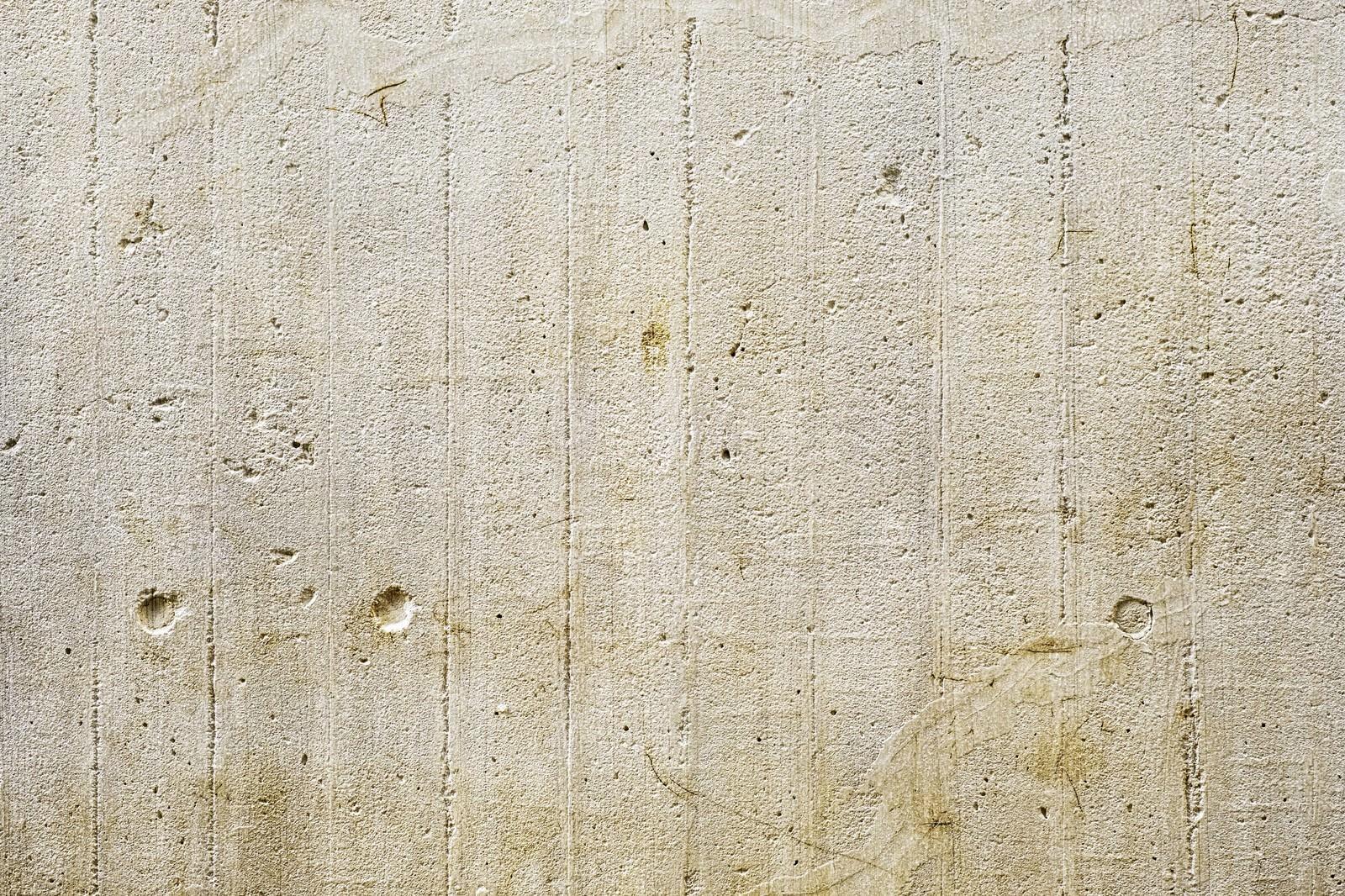 「板の跡が残るコンクリート壁(テクスチャ)」の写真