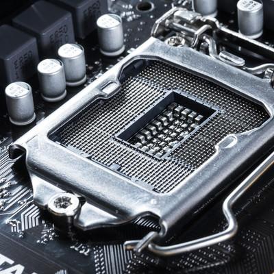 「LGA1151ソケット(マザーボード側)」の写真素材
