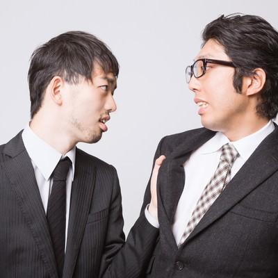 「『こんな会社辞めてやる!』と上司に食らいつく部下」の写真素材