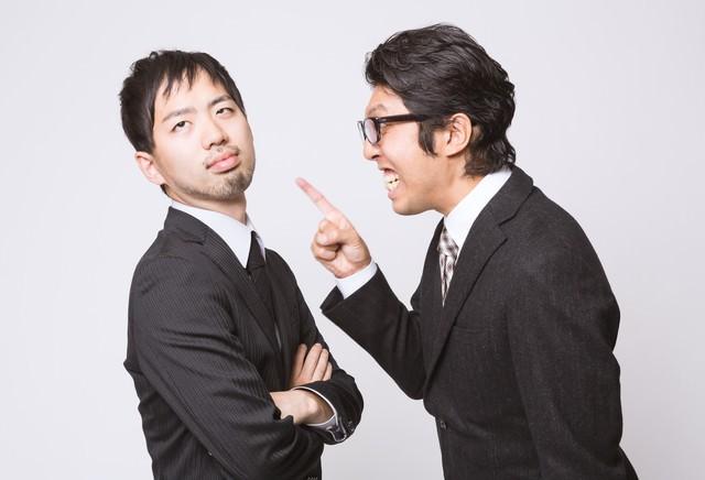 何度言っても改善しないゆとり社員と怒鳴り散らす上司の写真