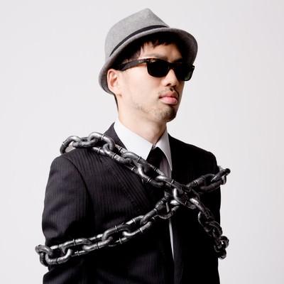 「鎖で束縛されるエージェント」の写真素材