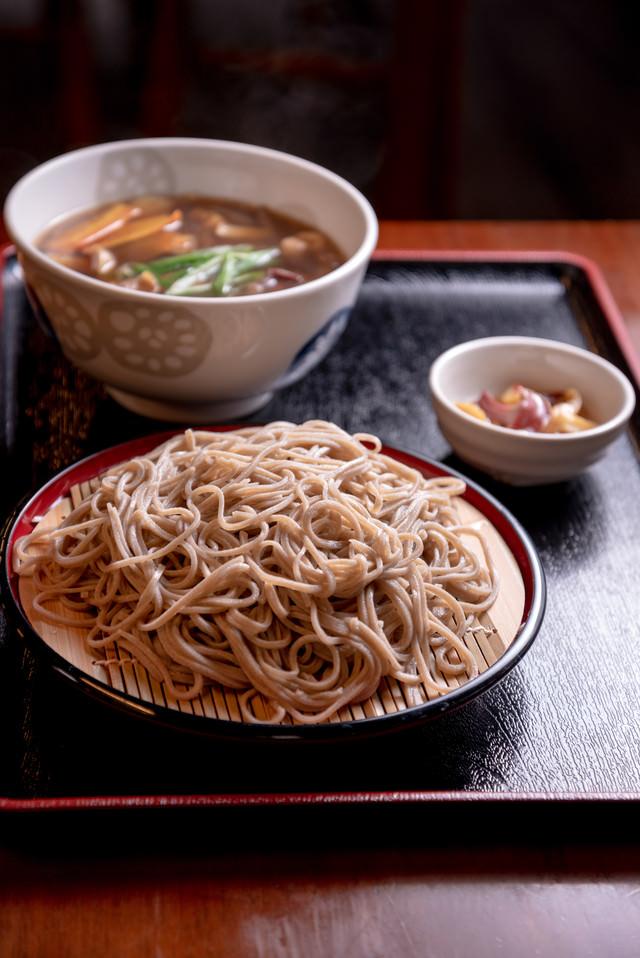 武石観光センターのつけ蕎麦ランチの写真