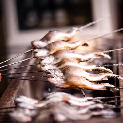 川魚の塩焼きの写真