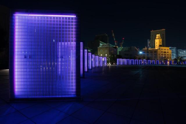 [横浜]象の鼻パークの夜景の写真