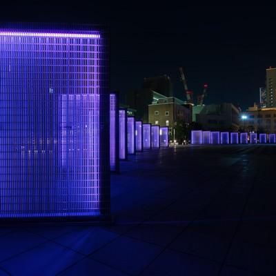 「[横浜]象の鼻パークの夜景」の写真素材