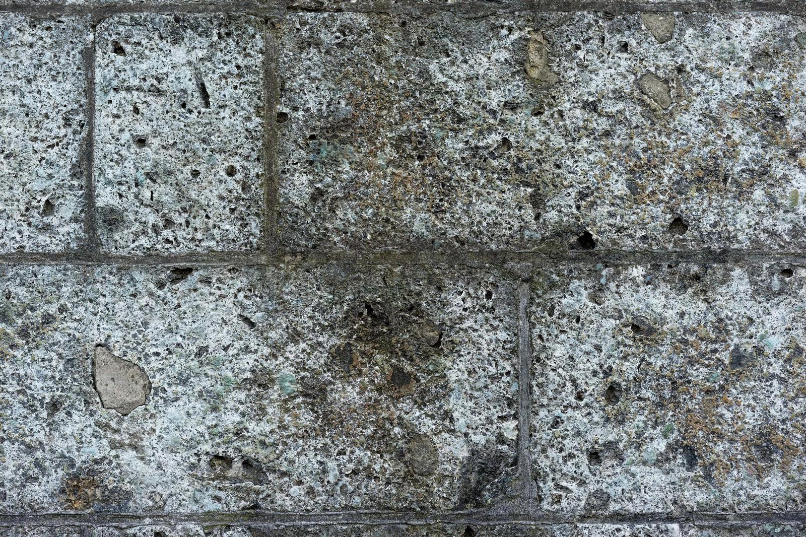 「ボロボロに朽ちたブロック(テクスチャー)ボロボロに朽ちたブロック(テクスチャー)」のフリー写真素材を拡大