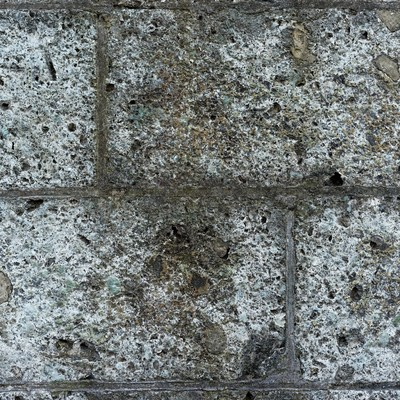 ボロボロに朽ちたブロック(テクスチャー)の写真