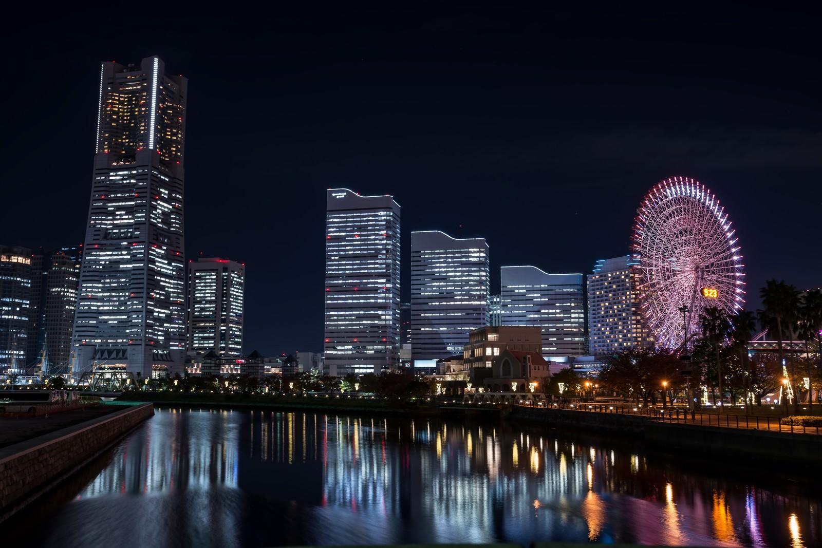 「万国橋からの夜景」の写真