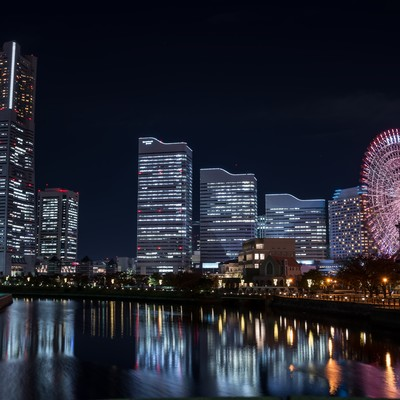 「万国橋からの夜景」の写真素材