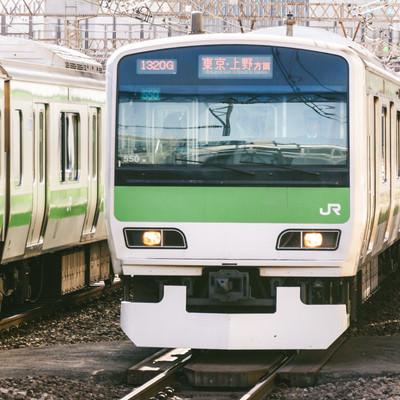 「JR山手線(東京・上野方面)」の写真素材