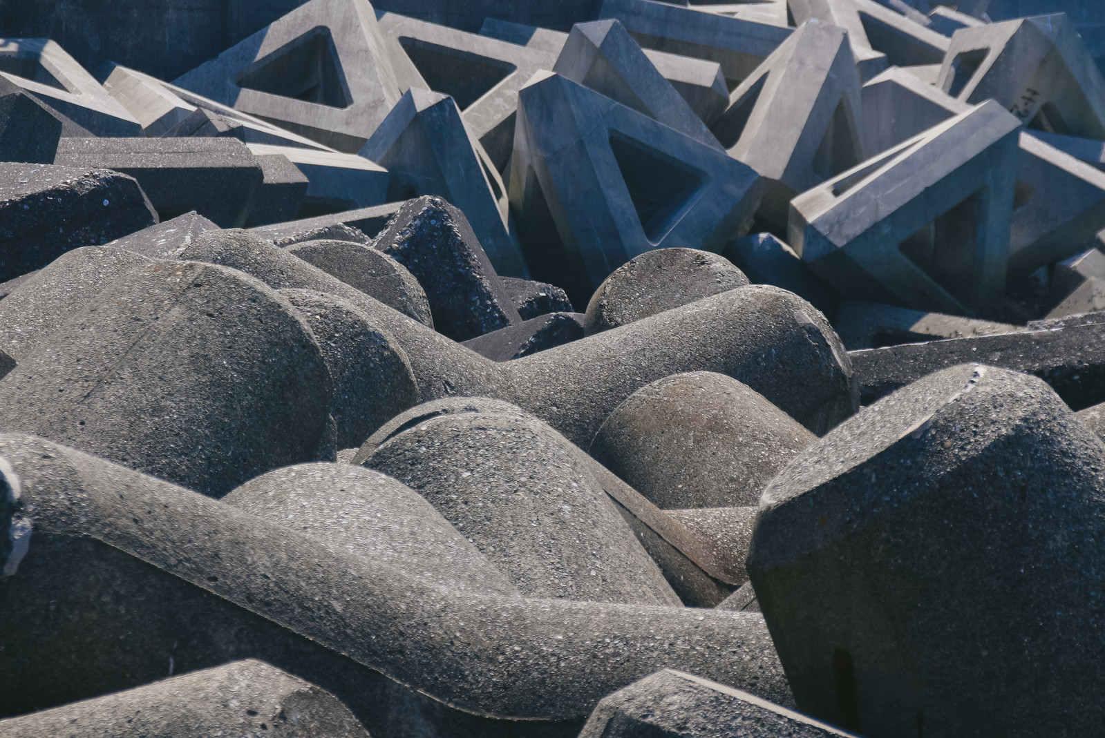 「消波ブロック」の写真