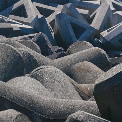 「消波ブロック」の写真素材