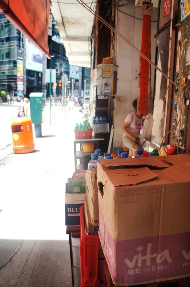 商店街の路地裏(香港)の写真