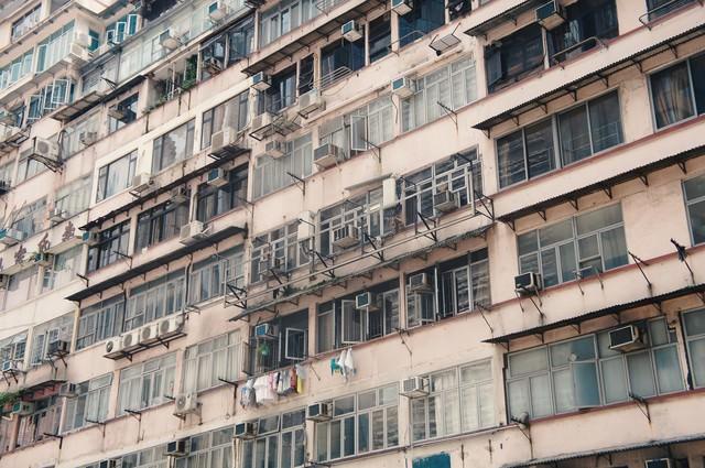 香港のアパートの写真