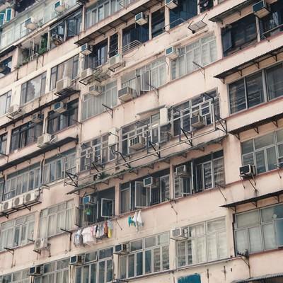 「香港のアパート」の写真素材