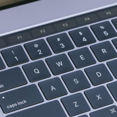 「-bとても薄くてストロークが小さくなったキーボード」の写真素材