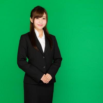 「企業の受付嬢(グリーンバック)」の写真素材