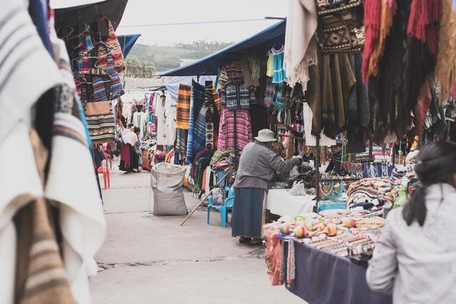 ボリビアの街角の写真