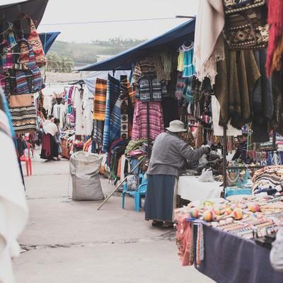 「ボリビアの街角」の写真素材
