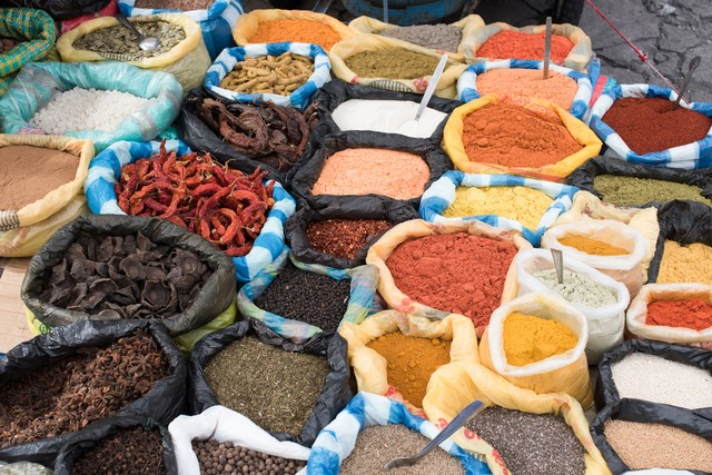 エクアドルの調味料屋の写真