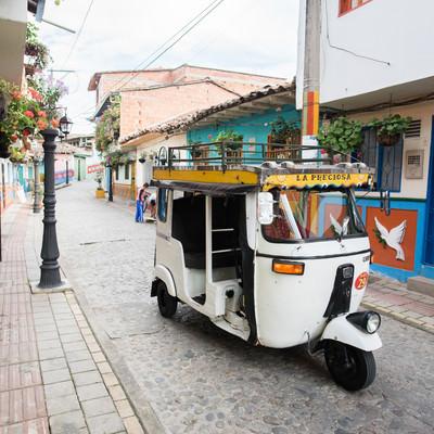 「南米のカラフルな街並み」の写真素材