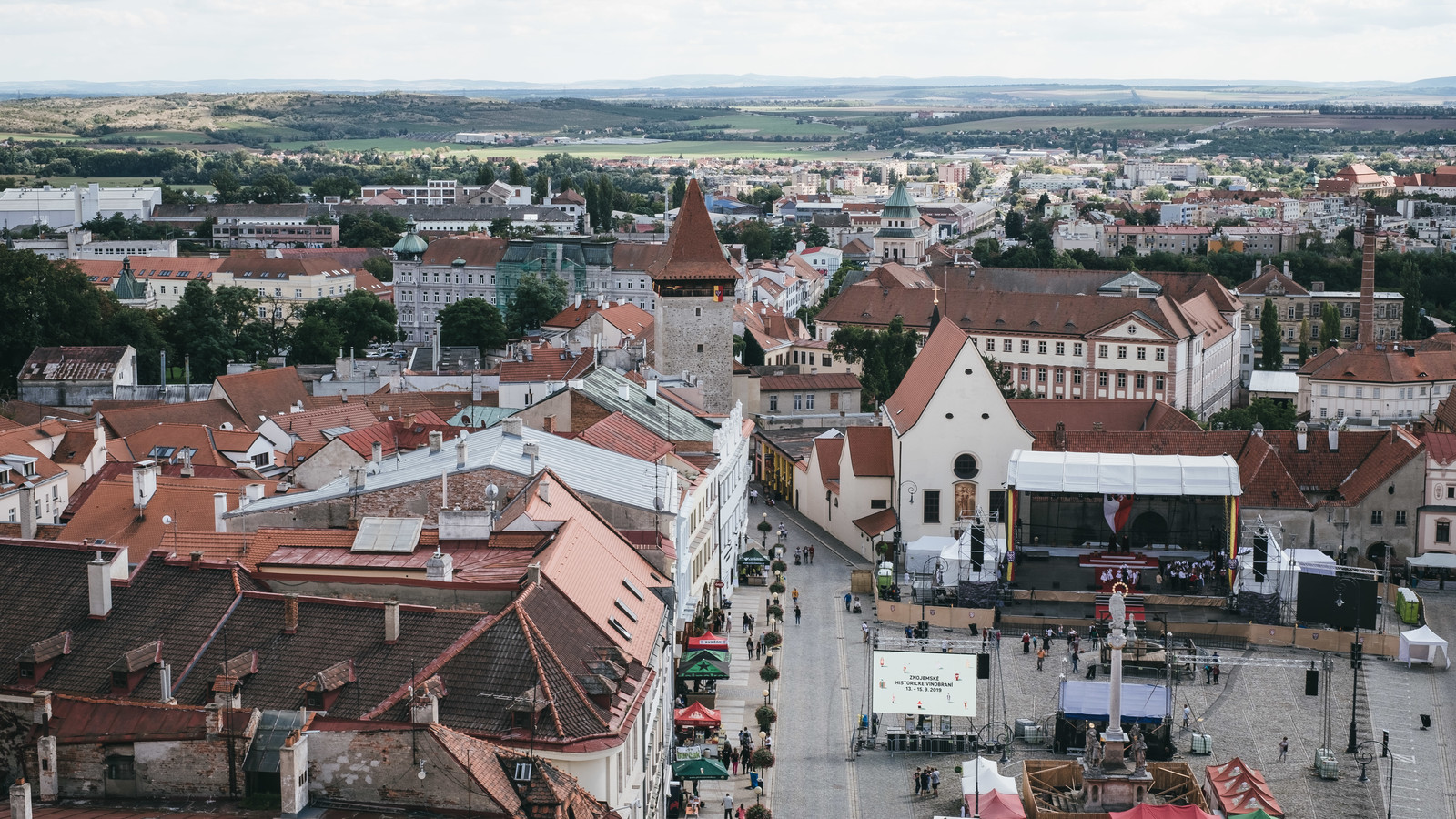 「ズノイモ市街の町並み(チェコ共和国)」の写真