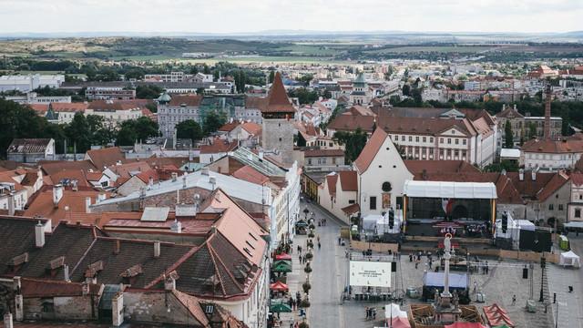 ズノイモ市街の町並み(チェコ共和国)の写真