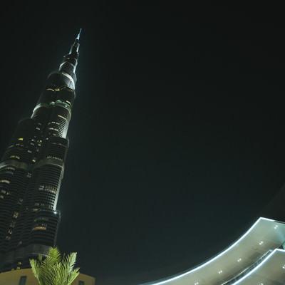 ブルジュハリファの夜(ドバイ)の写真