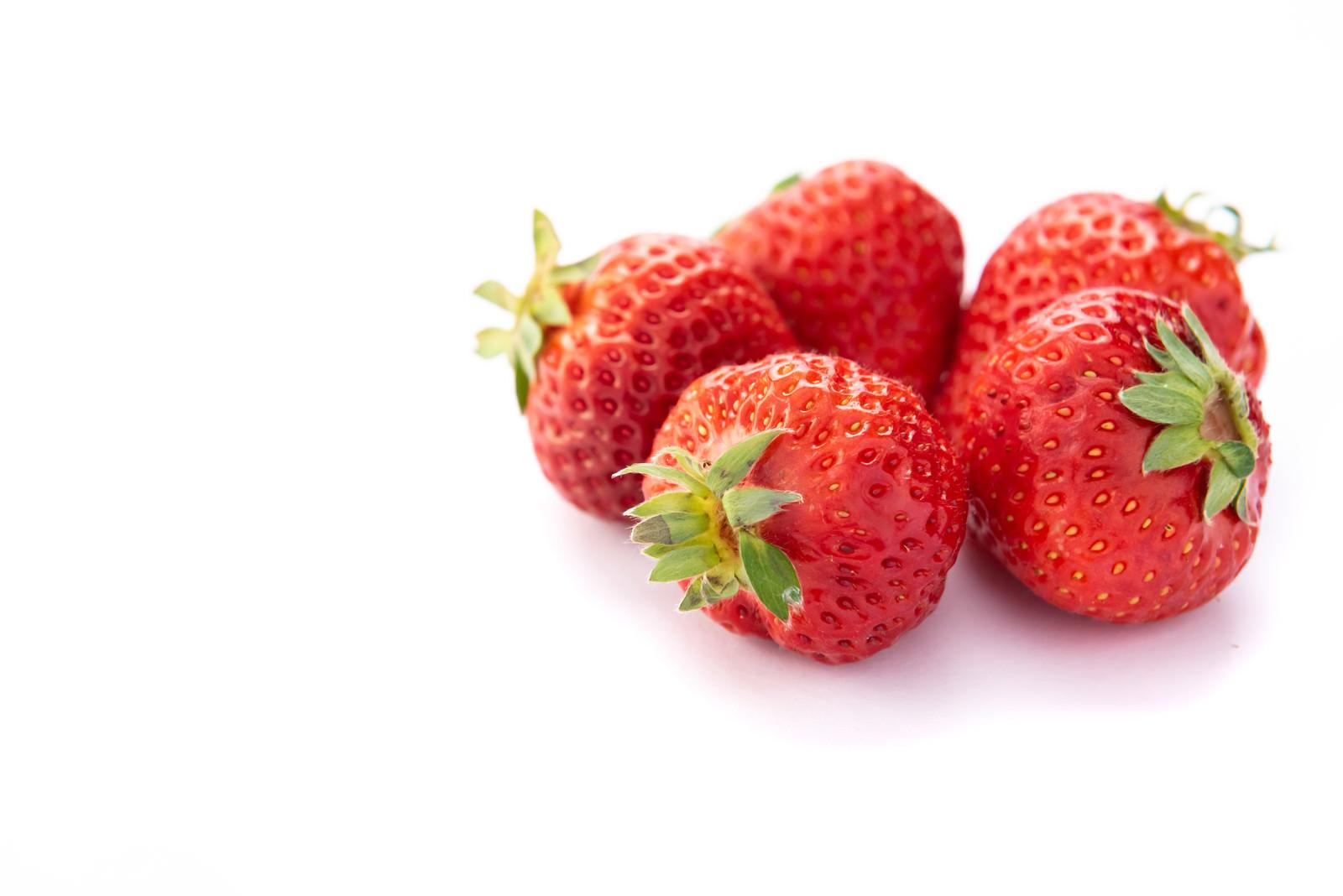 「採れたて苺」の写真