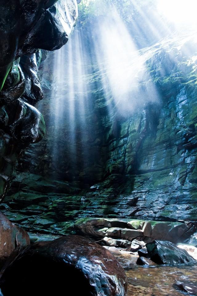 ベネズエラの洞窟の写真
