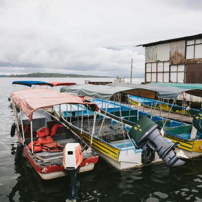 「パナマの船着き場」の写真素材
