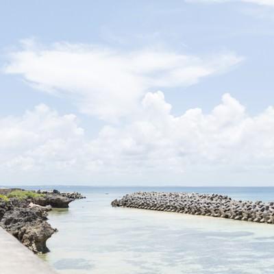 「池間島からの海」の写真素材