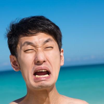 「海水浴客「やだーーーー!」」の写真素材